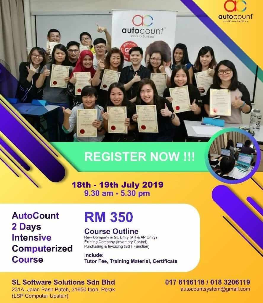 autocount july course